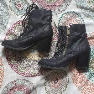 """Maurices - """"Hayden"""" lace-up heel boots"""